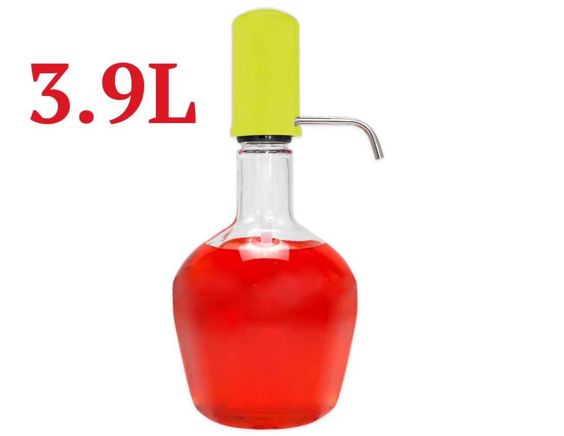 Karafa 3,9 l skleněná nádoba lahev s dávkovačem