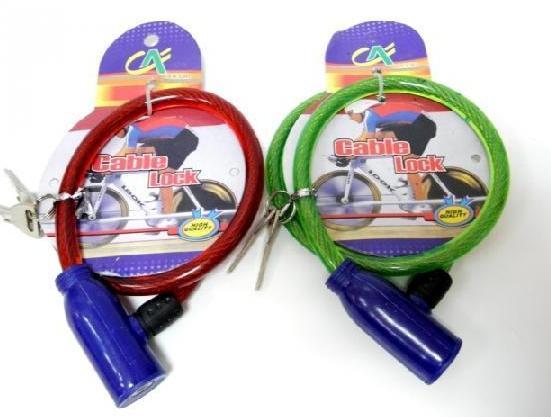 Zabezpečení kola lankový zámek na kolo 2 klíče