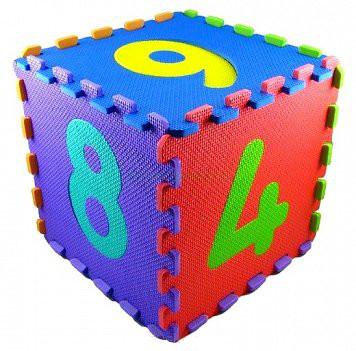 Pěnové puzzle číslice barevné 10 kusů