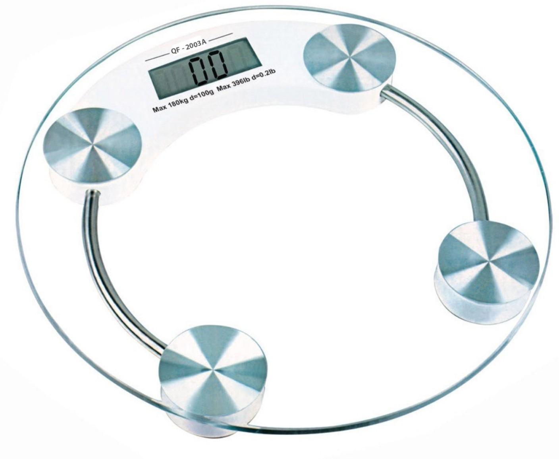 Kulata digitální skleněná osobní váha do koupelny