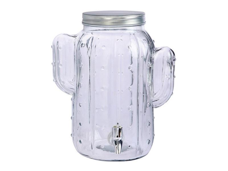 Džbán na nápoje s víčkem nádoba s kohoutkem doza na vino cactus 8l