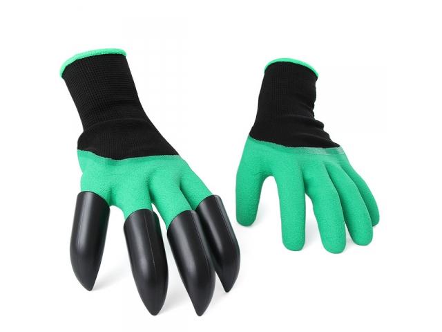 Zahradní rukavice s drápy hrábě