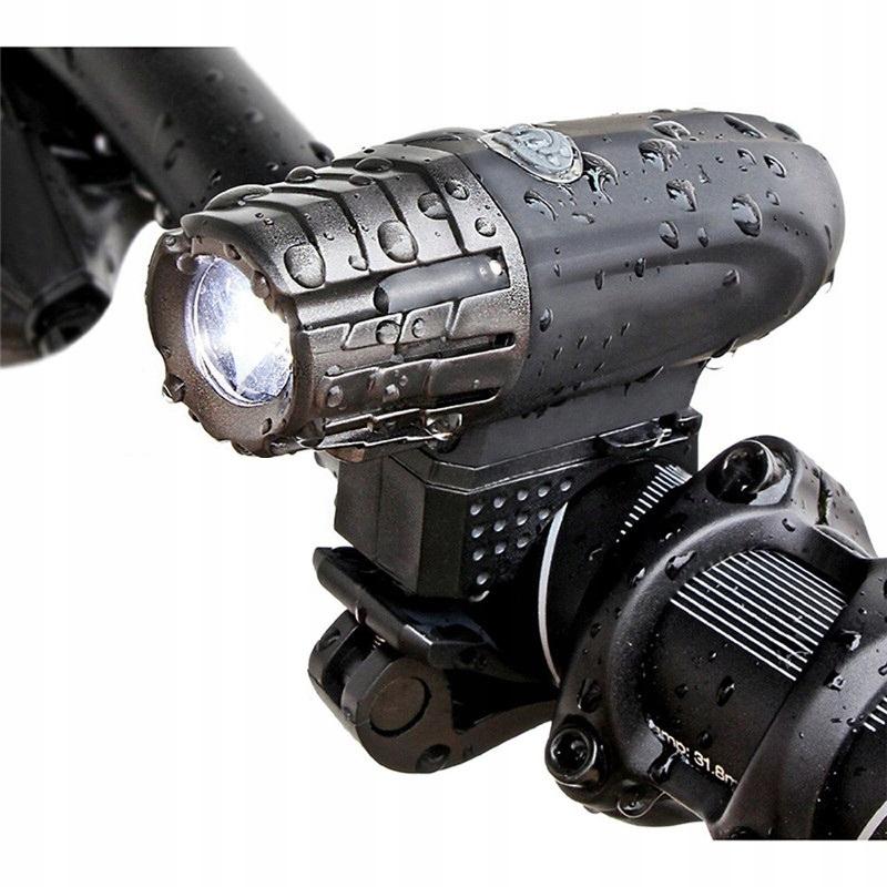 Nabíjecí cyklosvítilna vodotěsná baterka LED