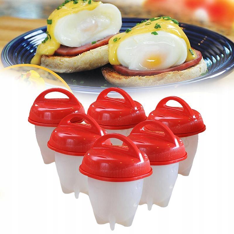 Silikonová nádoba pro vaření vejcí 6ks