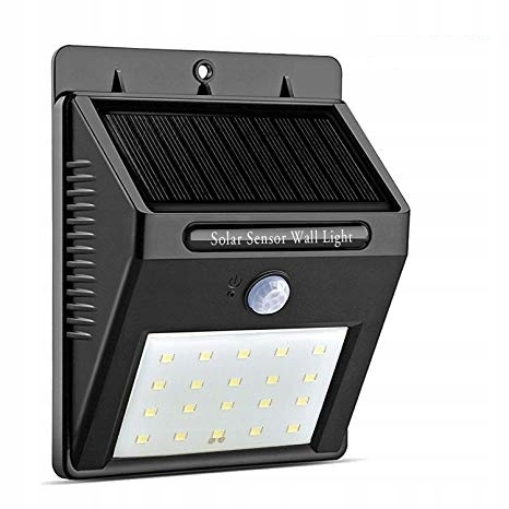 Venkovní 20 LED osvětlení s pohybovým senzorem - solární dobíjení