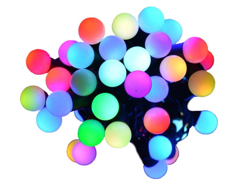 Vánoční osvětlení koule 80 LED barevne