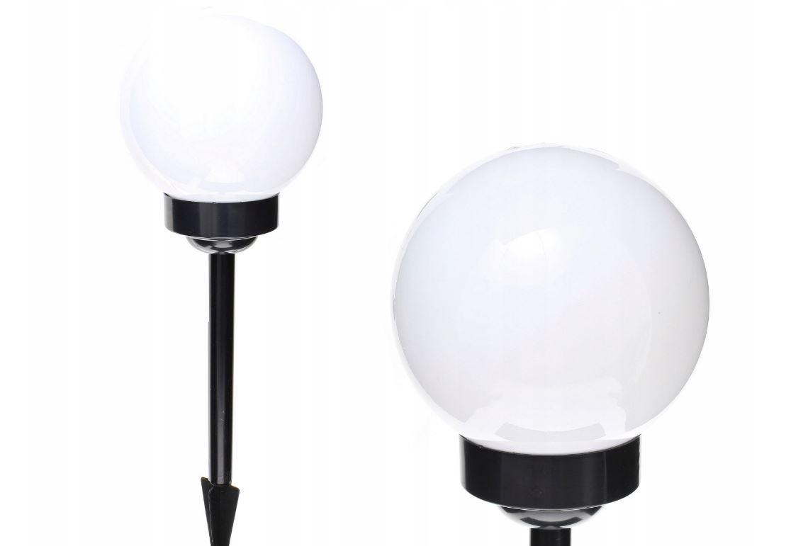 Zahradní solární lampa osvětlení koule světelný snímač černa 15cm