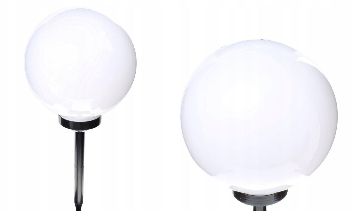 Zahradní solární lampa osvětlení koule světelný snímač černa 30cm