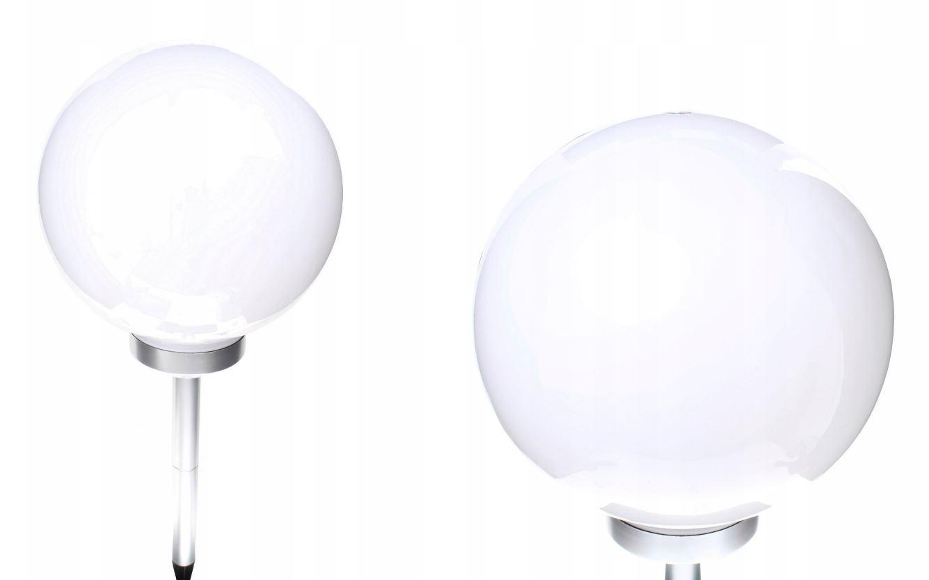 Zahradní solární lampa osvětlení koule světelný snímač stříbrna 30cm