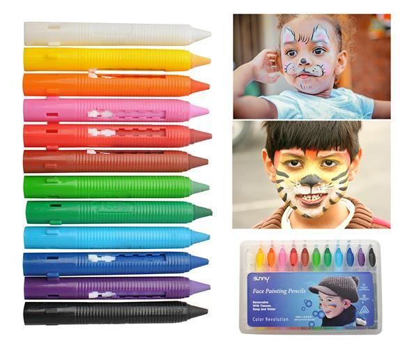 Barvy na obličej 12 kusu