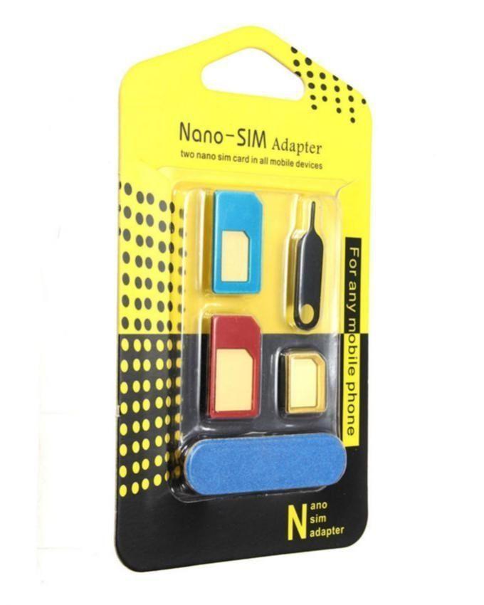 5v1 adaptér nano micro sim karet redukce + klíč