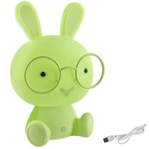 Noční lampička LED pro děti králíček zelený