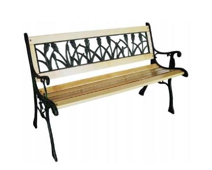 Zahradní lavička s područkami na terasu nebo balkon tulipán