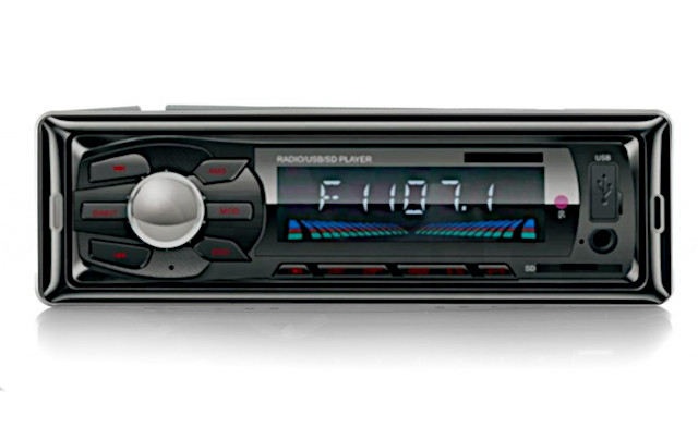 Autorádio mp3 usb aux sdmmc iso + ovládač radio