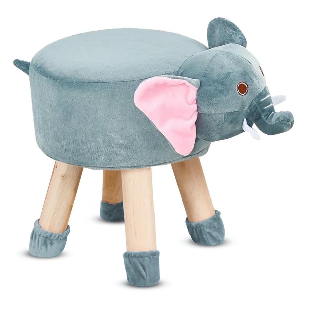 Taburet do dětského pokoje krásná stolička pro děti sloník
