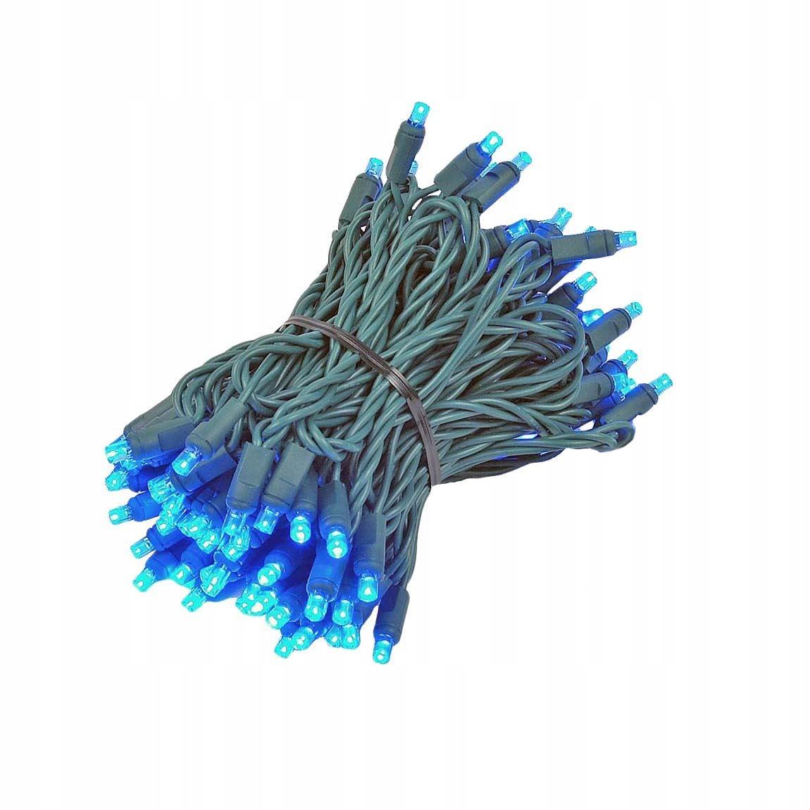 100 led vánoční osvětlení řetěz lampičky modre