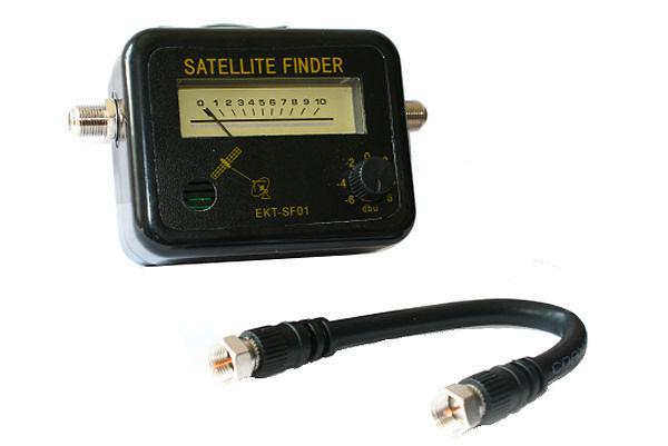 Satelite finder měřič satelitního signálu + kabel