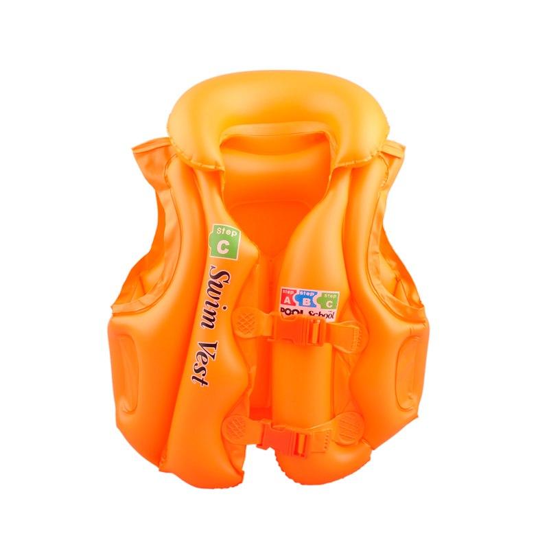 Vesta plavecká pro děti nafukovací POOL oranžová