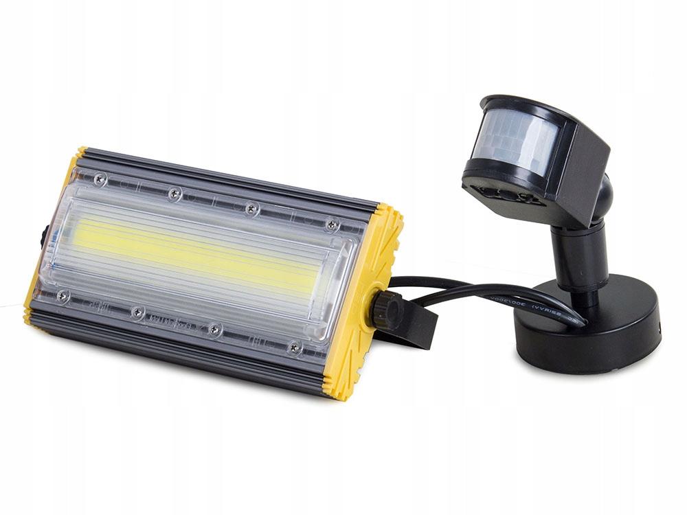 Halogenový reflektor světlo COB LED 50W 5000lm čidlo pohybu