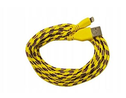 Datový USB kabel Lightning pro iPhone barva žlutá