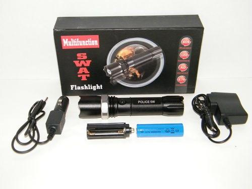 Nabíjecí svítilna cree led baterka + 2 x nabíječka