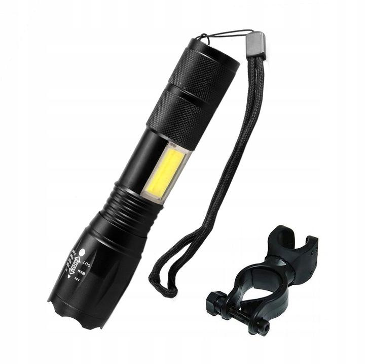 Cyklosvítilna LED dobíjecí světlo přední na kolo s držákem