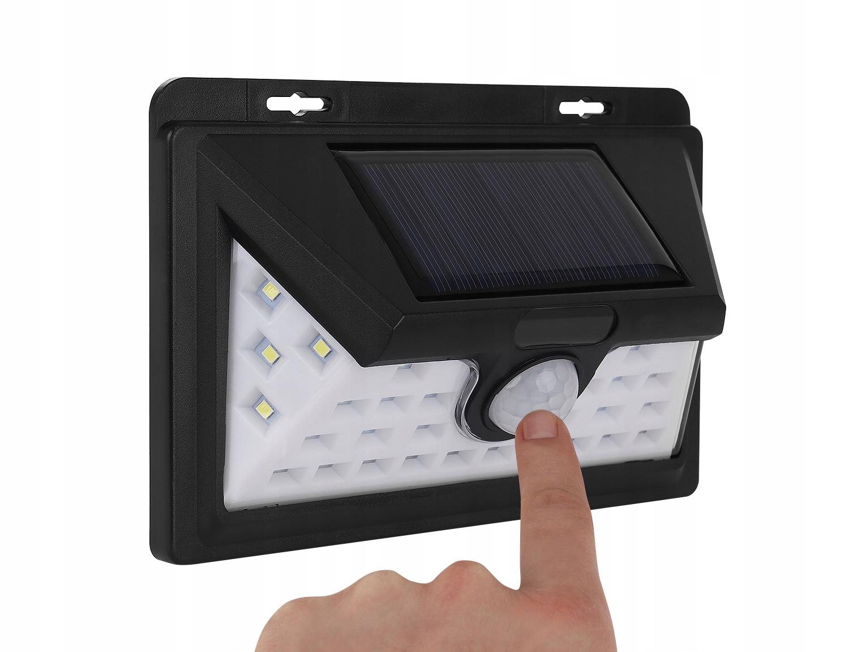 Solární venkovní 32 LED SMD osvětlení s senzorem pohybu a světla