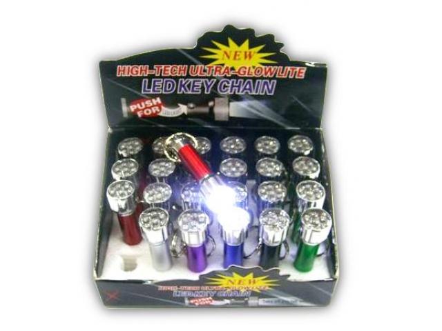 Mini baterka - klíčenka s baterií 7 led