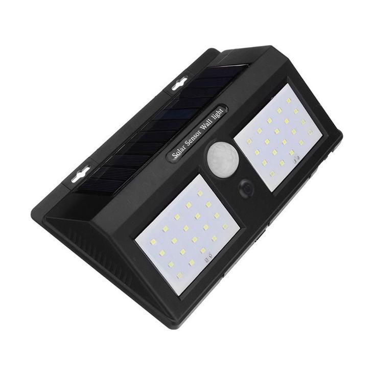 Venkovní solární 40 COB LED osvětlení s senzorem přítmí a pohybu
