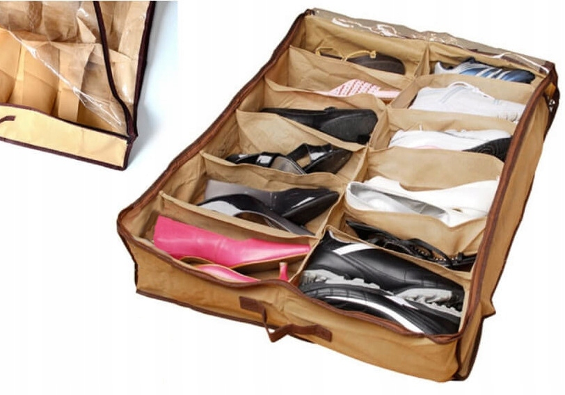 Organizer na boty úložný botnik pod postel
