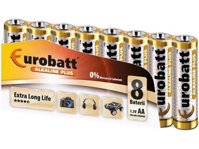 Alkalické baterie tužkové aa lr6 8 ks