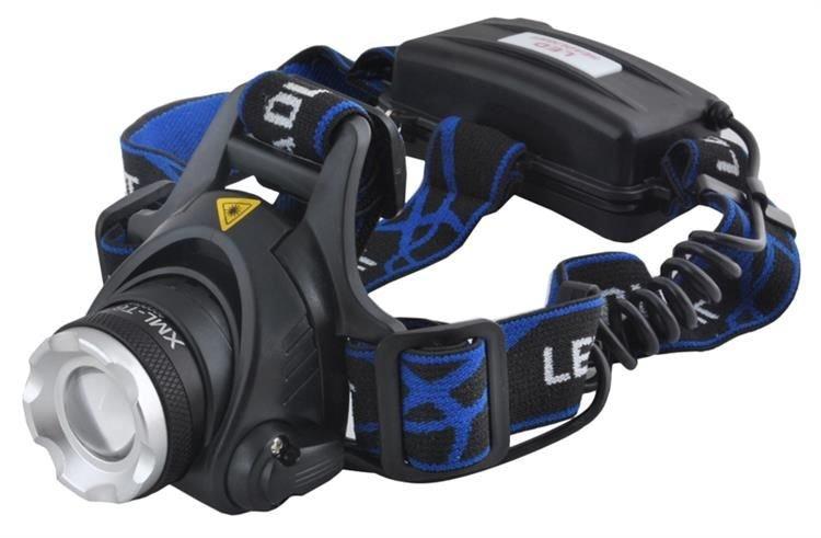 Výkonná čelovka High Power AKU s nabíječkou CREE LED