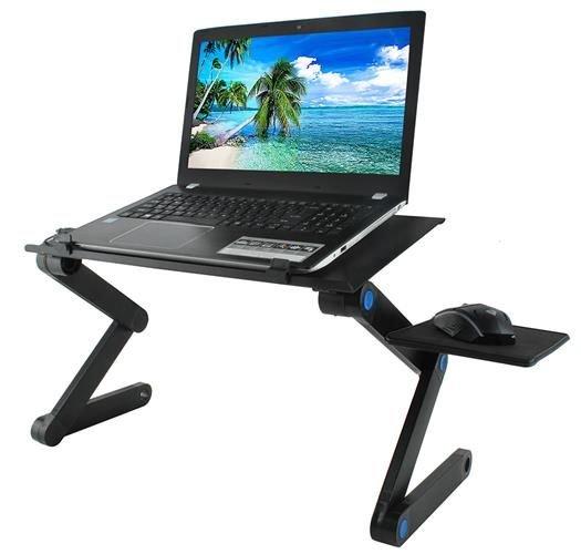 Flexibilní stolek pod notebook s ventilátorem chladící podložka