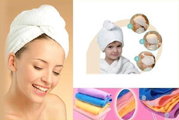 Magický ručník osuška na vlasy turban mikrovlákno
