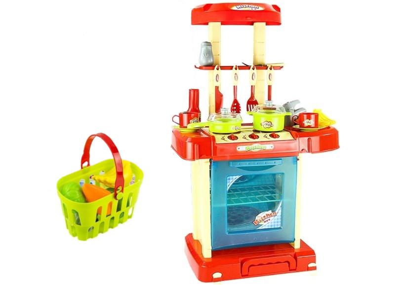 Velká dětská kuchyňka s příslušenstvím v kufříku