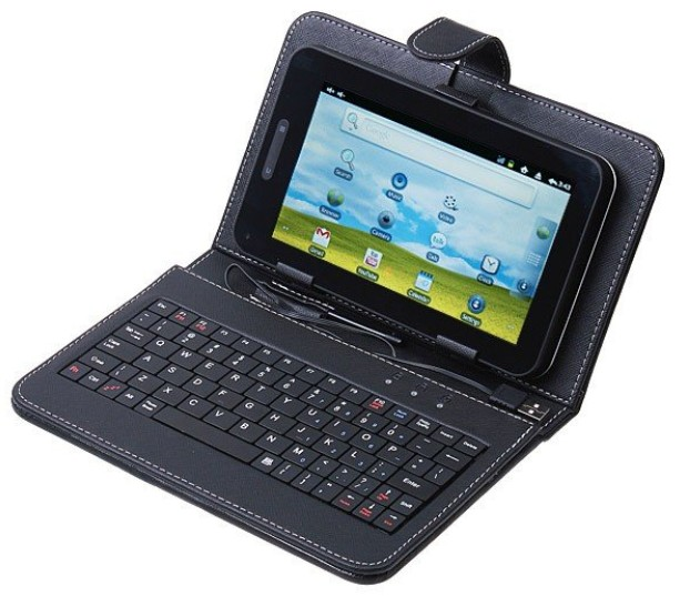 """Kožené pouzdro tablet 10"""" s klavesnicí micro usb"""