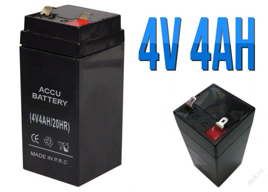 4 V gelový akumulátor baterie nejen pro hračky 4ah