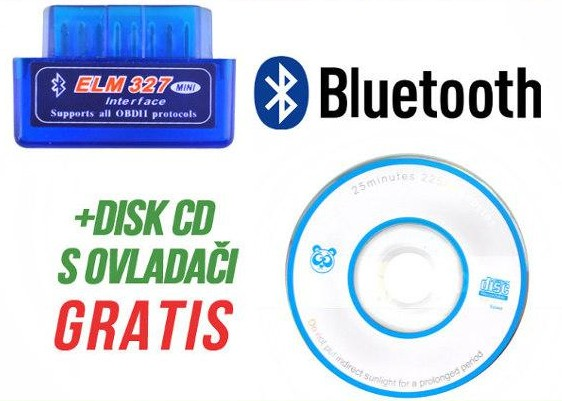 ELM 327 DIAGNOSTICKÝ ADAPTÉR BLUETOOTH MINI OBD II